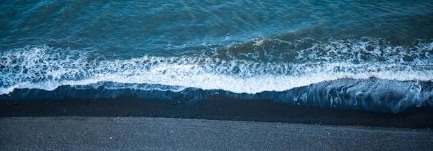 Panoramy widok z lotu ptaka tropikalna plaża, widok od trutnia, krajobraz morze plaża i plama ocean
