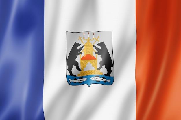 Państwo nowogród - obwód - flaga, rosja macha kolekcja transparentu. ilustracja 3d