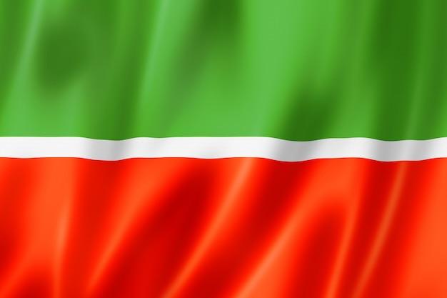 Państwo tatarstan - republika - flaga, rosja macha kolekcja transparentu. ilustracja 3d