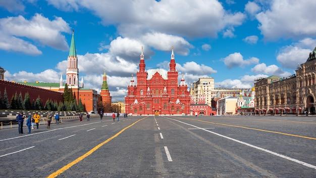 Państwowe muzeum historyczne, plac czerwony, moskwa. rosja