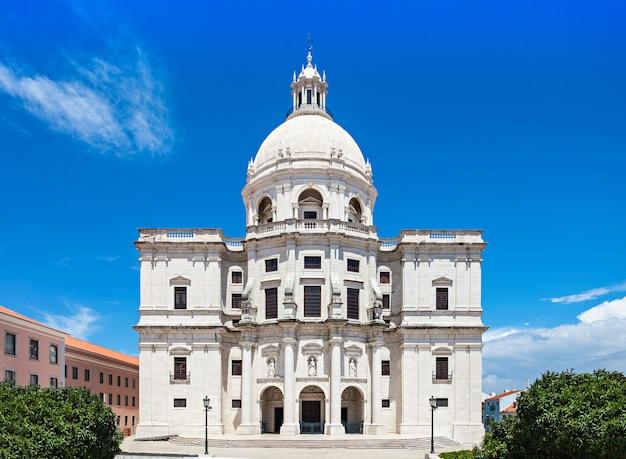 Panteon narodowy (kościół santa engracia) to xvii-wieczny zabytek lizbony w portugalii