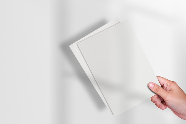 Papeteria papierowa broszura z przestrzenią projektową
