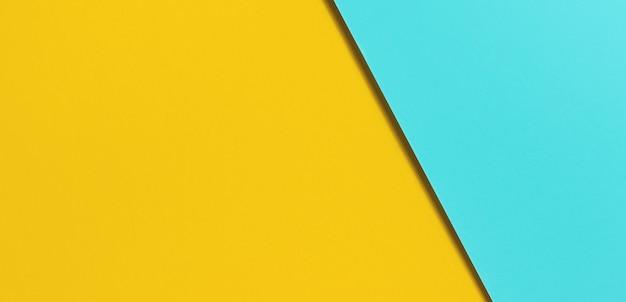 Papier kolorowy niebieski i żółty.