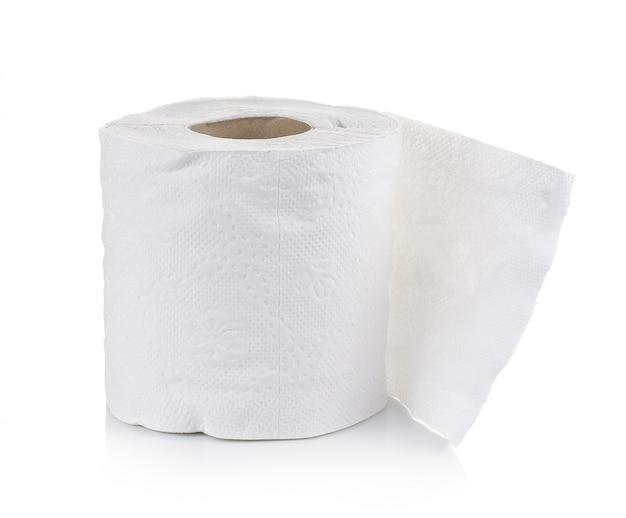 Papier toaletowy na białej ścianie