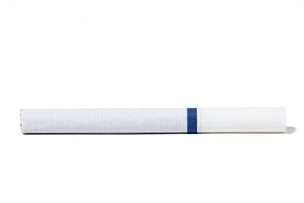 Papieros izolować, zbliżenie biały papieros