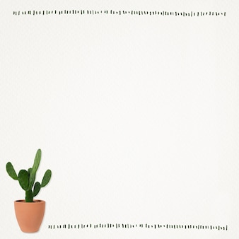 Papierowa notatka tło z kaktusową rośliną