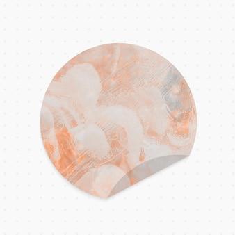Papierowa notatka z pastelowym abstrakcyjnym tłem okrągłym kształcie