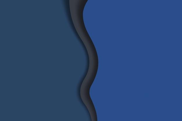 Papierowa rzeźba abstrakcyjna fale tło głęboki niebieski kolor projekt szablonu ilustracji
