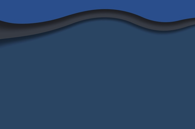 Papierowa sztuka rzeźbienia abstrakcyjne fale tło ciemnoniebieskie kolory szablon projektu ilustracja 3d papier
