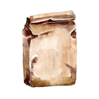 Papierowa torba akwarelowa