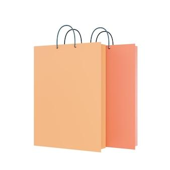 Papierowa torba na zakupy na białym tle