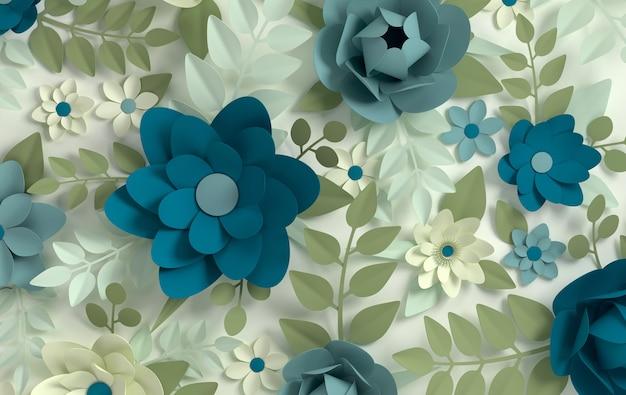 Papierowe eleganckie pastelowe kwiaty
