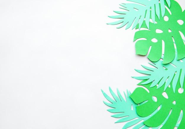 Papierowe liście monstera