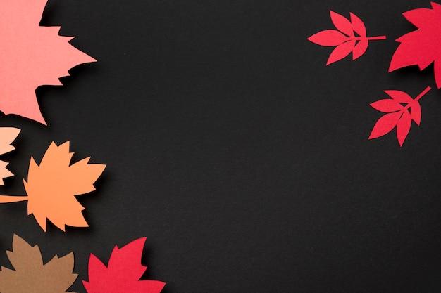 Papierowy jesień liści skład z kopii przestrzenią
