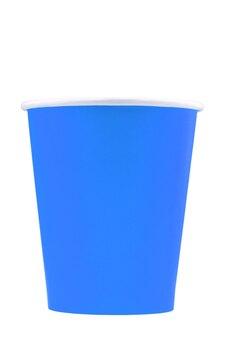 Papierowy kubek do napojów izolować na białym tle