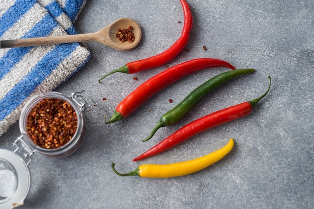 Papryka chili na szaro