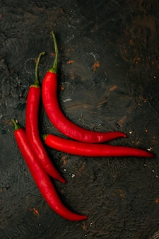 Papryka, czerwony cayenne palenie przed chile, zbliżenie