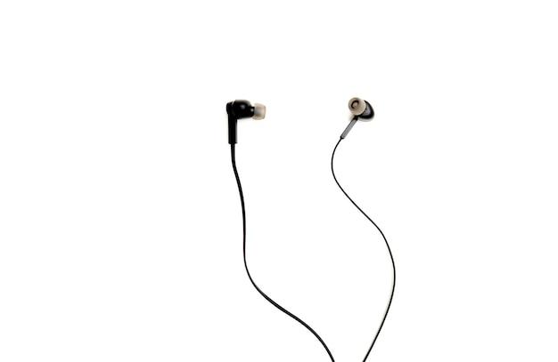 Para czarnych słuchawek