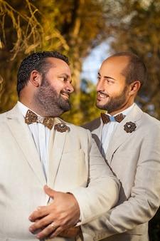 Para gejów na ich ślubie