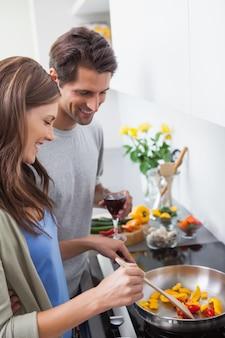Para gotowania razem warzyw