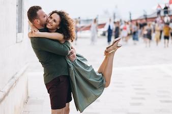 Para na miesiąc miodowy w Wenecji