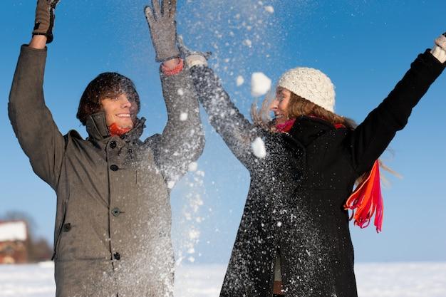 Para o zimowy spacer