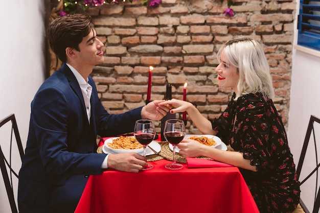 Para obiad w walentynki