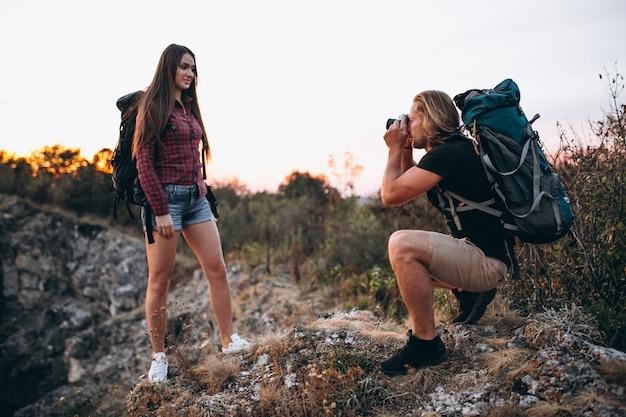 Para piesze wycieczki w górach