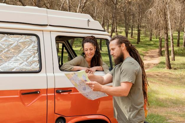 Para podróżująca mapa konsultingowa
