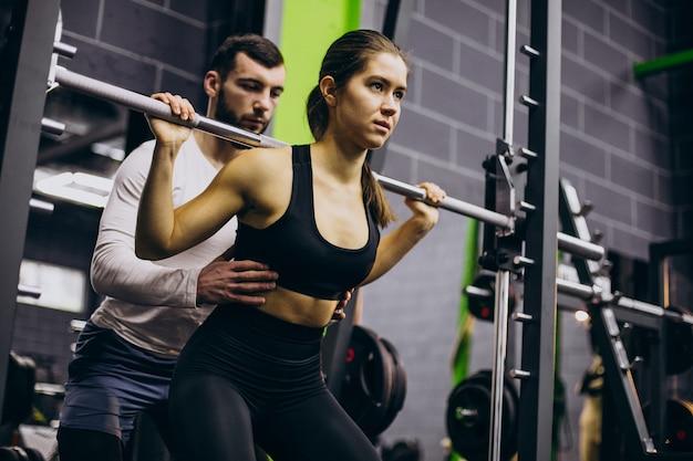 Para razem trenuje na siłowni