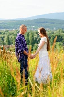 Para w naturze na greenfield