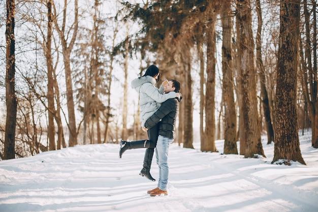 Para w zimie