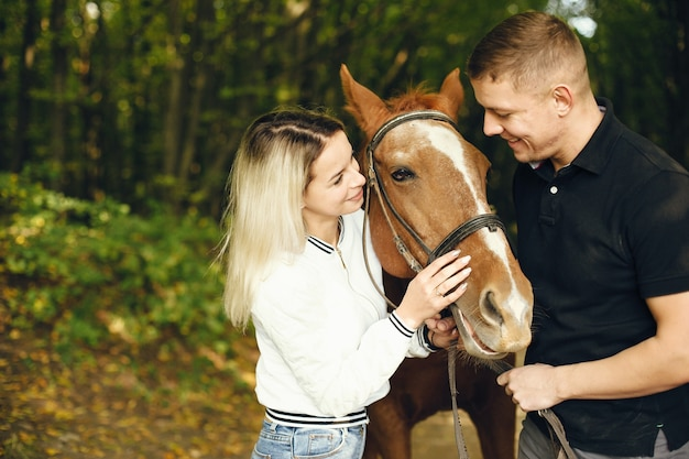 Para z końmi
