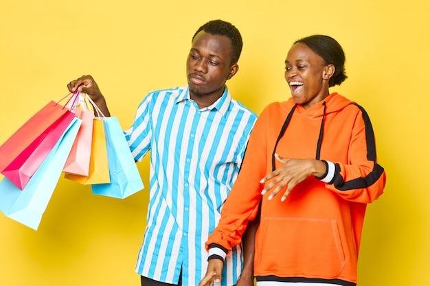 Para z torby na zakupy