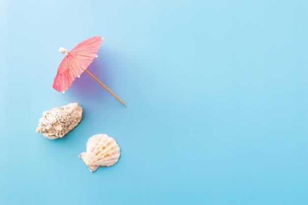 Parasol koktajlowy i muszle