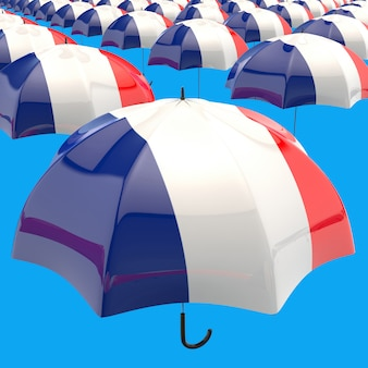Parasolowy pojęcie - 3d ilustracja
