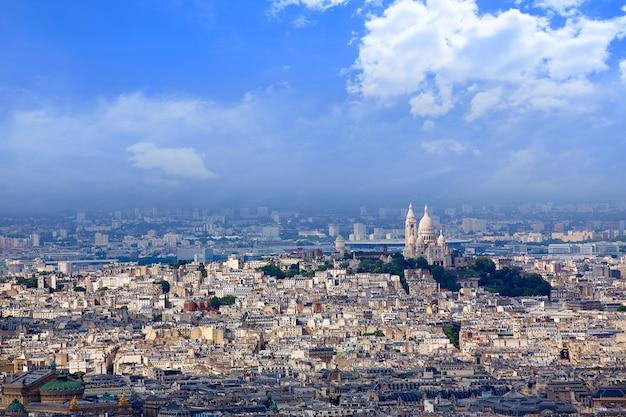 Paris skyline i sacre coeur basilique