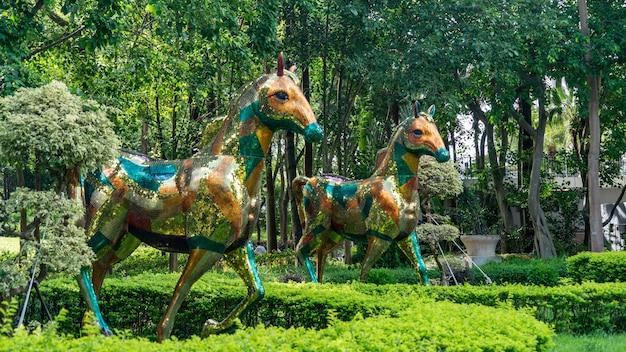Park centralny sha tin w hongkongu.