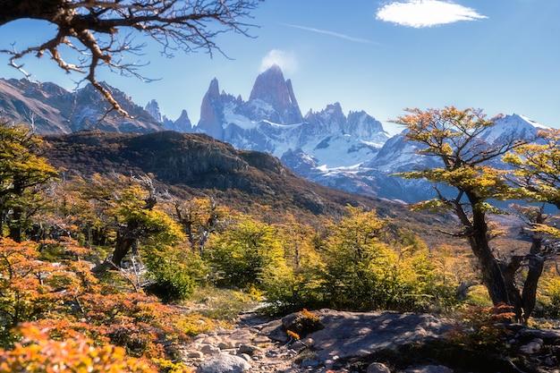 Park narodowy los glaciares, prowincja santa cruz, patagonia, argentyna, góra fitz roy.