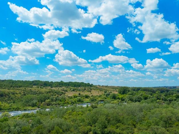 Park narodowy straży bugu na ukrainie. region mikołajów.