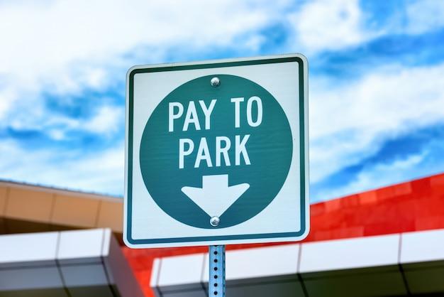 Parkować podpisuje wewnątrz nevada, usa