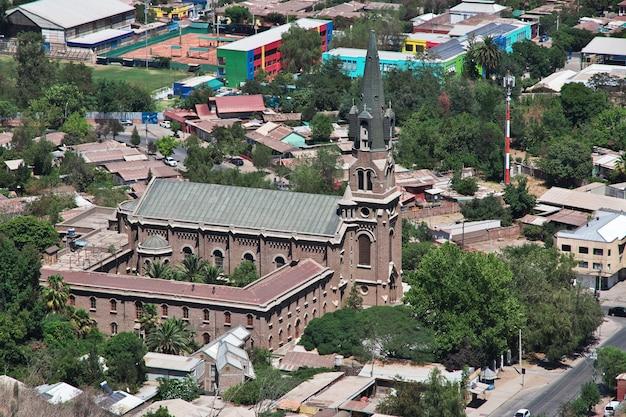 Parroquia santo cristo de la salud, kościół w los andes w chile