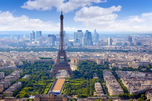 Paryska wieża eifla i linii horyzontu powietrzny francja