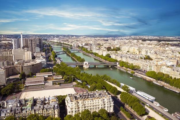 Paryski widok z wieży eiffla