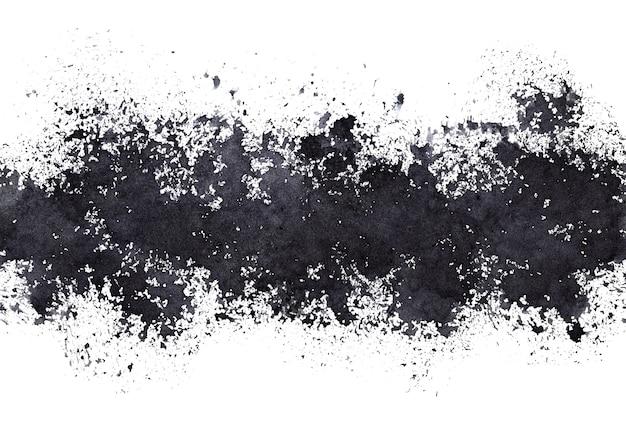 Pasek czarnych plam farby - abstrakcyjne tło grunge - ilustracja rastrowa