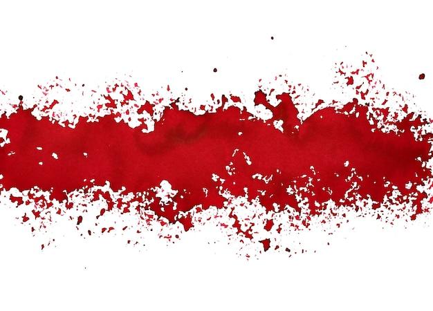 Pasek rozlanej czerwonej farby - abstrakcyjne tło grunge - ilustracja rastrowa