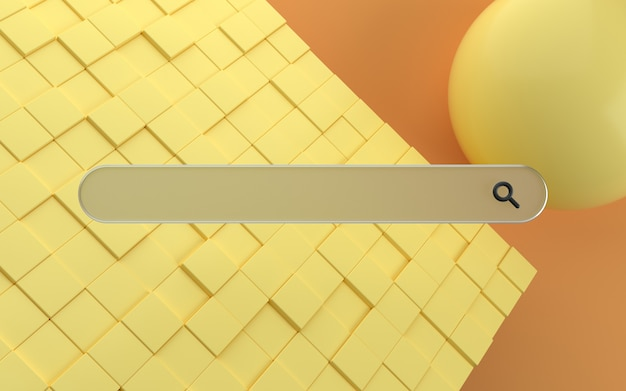 Pasek wyszukiwania 3d z nowoczesnym tłem