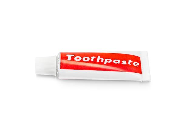 Pasta do zębów tubka odizolowywająca