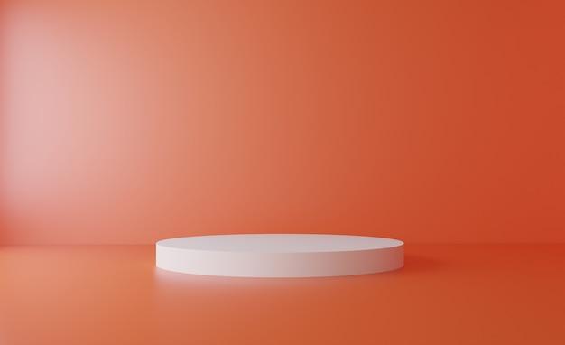 Pastelowa i miękka pomarańczowa realistyczna platforma renderowania