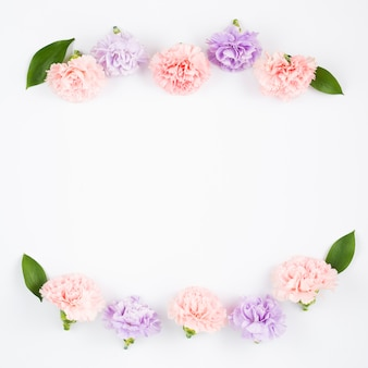 Pastelowa ramka kwiatu
